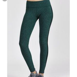 Beyond yoga space dye mesh stripe legging green